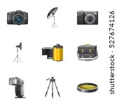 photography icons set. cartoon... | Shutterstock .eps vector #527674126