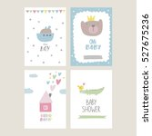 baby shower card design | Shutterstock .eps vector #527675236