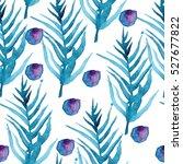 watercolor seamless pattern... | Shutterstock . vector #527677822