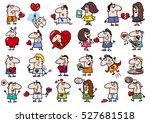 cartoon illustration of funny... | Shutterstock .eps vector #527681518