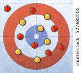 sport. curling stones on ice.... | Shutterstock .eps vector #527682502
