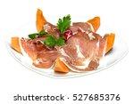 traditional italian appetizer... | Shutterstock . vector #527685376