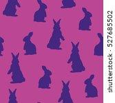 bunny pattern   vector... | Shutterstock .eps vector #527685502