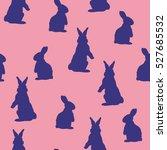 bunny pattern   vector... | Shutterstock .eps vector #527685532