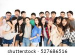 happy young student group ... | Shutterstock . vector #527686516