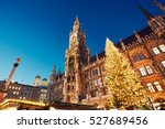 marienplatz with the christmas... | Shutterstock . vector #527689456