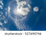 Sun Corona On Blue Sky