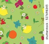herbs for tea seamless pattern | Shutterstock .eps vector #527698345