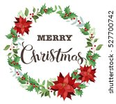 christmas wreath of red...   Shutterstock . vector #527700742