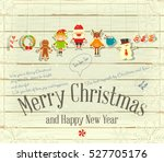 merry christmas and new year... | Shutterstock .eps vector #527705176