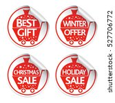 new year holiday stickers sale...   Shutterstock .eps vector #527706772