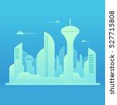 future city landscape... | Shutterstock .eps vector #527715808