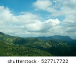 green mountain and beautiful... | Shutterstock . vector #527717722