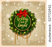 christmas greeting card . happy ... | Shutterstock .eps vector #527723932
