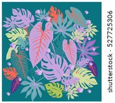 vector graphical tropical... | Shutterstock .eps vector #527725306