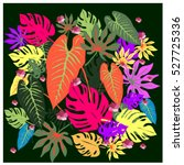 vector graphical tropical... | Shutterstock .eps vector #527725336