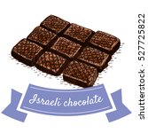israeli chocolate colorful... | Shutterstock .eps vector #527725822