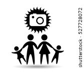 silhouette family vacation... | Shutterstock .eps vector #527728072