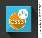 css3 language data base storage ... | Shutterstock .eps vector #527729686