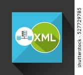 xml language data base storage... | Shutterstock .eps vector #527729785
