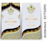 indian invitation card  pattern ... | Shutterstock .eps vector #527732092