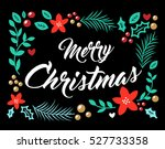vector image merry christmas | Shutterstock .eps vector #527733358