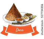 dosa colorful illustration.... | Shutterstock .eps vector #527734306