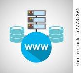 www language data base storage... | Shutterstock .eps vector #527735365