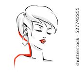 beautiful woman face with... | Shutterstock .eps vector #527742355