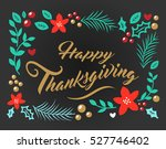 vector image happy thanksgiving | Shutterstock .eps vector #527746402