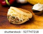 venezuelan typical food  arepa | Shutterstock . vector #527747218