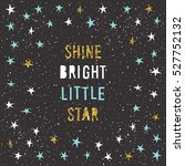 christmas card template.... | Shutterstock .eps vector #527752132