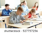 education  learning and people... | Shutterstock . vector #527757256
