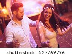 happy couple dancing in club | Shutterstock . vector #527769796