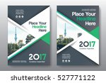 green color scheme with city... | Shutterstock .eps vector #527771122