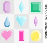 vector diamonds and gems linear ... | Shutterstock .eps vector #527772538