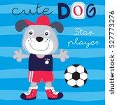 soccer dog vector illustration   Shutterstock .eps vector #527773276