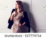 close up portrait of elegant... | Shutterstock . vector #527774716