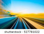 speed motion in urban highway... | Shutterstock . vector #527781022