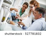 dentist and her female... | Shutterstock . vector #527781832