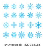 set of 20 vector snowflakes