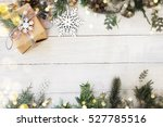christmas background on the... | Shutterstock . vector #527785516