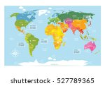 vector map of the world with... | Shutterstock .eps vector #527789365