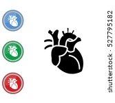 web icon. human heart | Shutterstock .eps vector #527795182