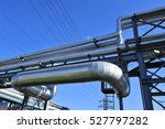 the pipe and valve oil fields  | Shutterstock . vector #527797282