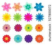 flowers vector on white... | Shutterstock .eps vector #527800072