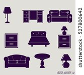 furniture icons | Shutterstock .eps vector #527800642