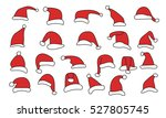 set 22 santa hats | Shutterstock .eps vector #527805745