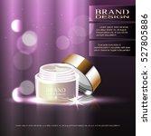 pattern moisture cream ad ... | Shutterstock .eps vector #527805886