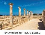 temple columns in kato paphos... | Shutterstock . vector #527816062